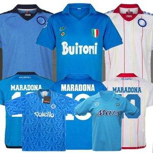 Retro Classic 82 83 87 88 89 Napoli calcio maglie MARADONA 1982 1983 1987 1988 1989 1991 1992 1993 camicia di calcio retrò S-2XL