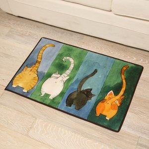 New Creative Cat Pattern Bath Mat Rug In The Toilet,High Quality Anti Slip Carpet Bathroom Mats,Bathroom Mats And Rugs Alfombra