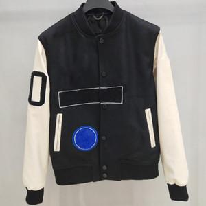 Европейский Baseball fashion-Coat единообразно высокого качества однобортный теплая куртка Пары Женщины Мужские пальто конструктора HFKYJK012