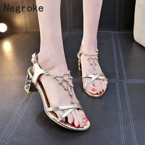 2020 Sexy Women Sandals Crystal Open Toe High Heels Women Heel Sandals Slippers Discount Pumps 6CM PLUS SIZE