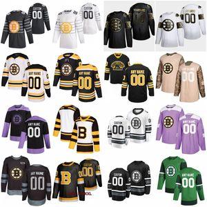 2020 All-Star Game Gewohnheit 88 David Pastrňák Boston Bruins Eishockey Trikots 33 Zdeno Chara 37 Patrice Bergeron 63 Brad Marchand 40 Tuukka Rask