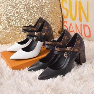 Fashion high heels top luxury women's shoes high-end quality 35-42 European station new hot sale (with box)