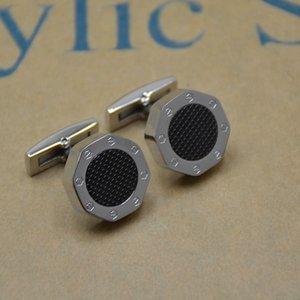 High quality Man Cufflinks Special octagon Design Copper Cuff button Black Silver Blue Fashion Wedding Groomsmen Wear Jewelry Cuff links