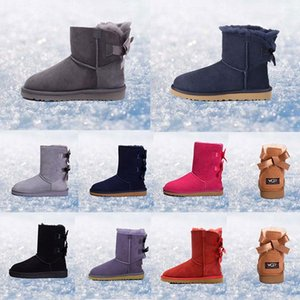 women boots Australia Classic snow Boots WGG tall real leather Bailey Bowknot girl winter desinger Keep warm size 36-41 lk