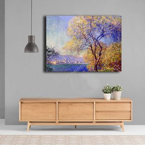 Antibes Seen From The Salis Gardens By Claude Monet Art Canvas Poster Painting Wall Picture Print Home Bedroom Decoration Giclee
