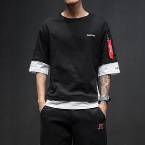 Neue T-Shirt Männer Halbe Hülse Oansatz Männer Loose Fit T-Shirt Gedruckt Berühmte Männer Markendesign Lose T-Shirt Hip Hop Sommer T-Shirt