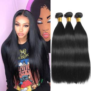 Mink brasilianischen gerade Menschenhaar 3 Bundles Angebote Körper-Wellen-Raw Virgin Indian Hair Extensions peruanischen Menschenhaar-Bundles Malaysian Weave