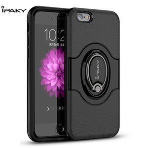Ipaky 360 graus anel de rotação tampa do telefone magnetic car suporte híbrido silicone case para iphone x casos de telefone móvel