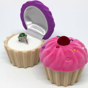 Bolo de casamento Forma Jewelry Anel de Noivado Caixa de presente do dia dos namorados encantadores Anéis Presente exibir caixas Organier