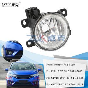 ZUK alta calidad a estrenar Izquierda Derecha Niebla luz antiniebla delantera Luz parachoques de la lámpara para HONDA FIT / JAZZ GK5 CIVIC FB2 FB6 ODYSSEY Crider