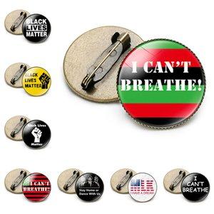 Heiße Verkäufe BLACK LEBT MATTER Brosche ICH KANN NICHT BREATHE Badge Art und Weise Partei-Abzeichen Partei kleines Geschenk T9I00408