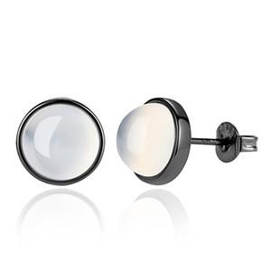925 Sterling Silver Fashion Opal Gem Ladies Orecchini Orecchini Donna ragazze gioielli all'ingrosso regalo nero placcato oro G70