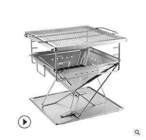 2020 뜨거운 판매 BBQ 그릴 스테인레스 스틸 접이식 화재 테이블 바베큐 그릴 MT-035 바베큐 식사를 요리 야외 랙