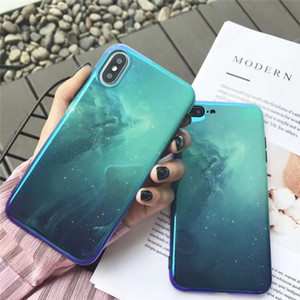Blu-ray Universe Nebula Mirror cases For iphone X 7 7Plus 8 8plus Soft silicon Phone case for iphone 6 6s 6plus