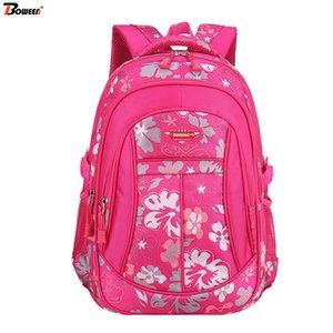 Bolsas Pink Flowers Crianças escola para meninas de escola primária Crianças Backpack Princess Bolsas Meninas bookbags grandes 6-12 anos