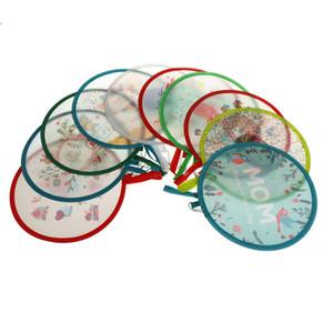Ventilatore pieghevole portatile di vendita calda Regalo creativo del partito del disco rotondo fan fresco della mano di estate favore del partito