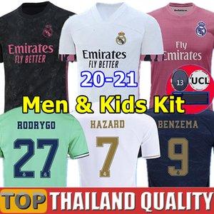 Tailandia Real Madrid maglie da calcio RISCHIO 2019 2020 SERGIO RAMOS ASENSIO maglietta da calcio 19 20 MARCELO EA Sports Uomini Donne Kit per bambini camisetas