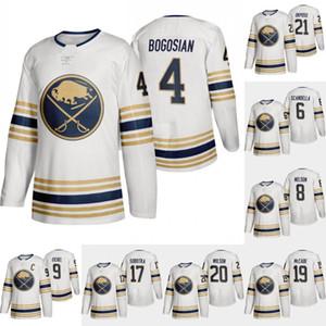 Buffalo Sabres Gold 50th Zach Bogosian Jersey Marco Scandella Casey Nelson Jack Eichel Vladimir Sobotka Jake McCabe Scott Wilson