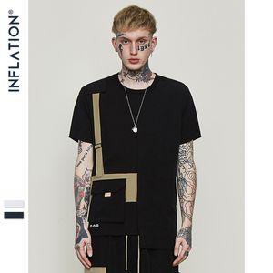 الرجال INF ملابس ربيع وصيف جديد الأوروبية الأمريكية شارع العليا عارضة أزياء تي شيرت تباين الألوان جيب بأكمام قصيرة