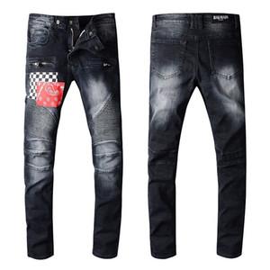 Balmain pantalones vaqueros para hombre de Nueva simple de la manera ligera de verano Jeans para hombre de gran tamaño Moda sólido ocasional clásico recto Jeans Denim estilista