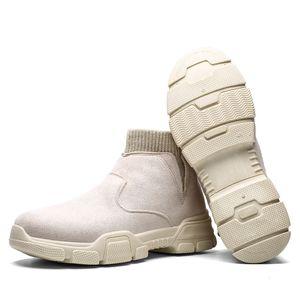 Süet Deri Erkek Çizme Vintage Batı Bilek Boots Erkekler su geçirmez Kış İş Boots Günlük Ayakkabılar Sneakers Kovboy Botaş 39-45