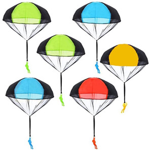 Parachute Toy Tangle Free Throwing Toy Parachute Figures Hand Throw Soldiers Parachute Play Children's Flying Inflatable Toys