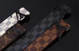 2020 correas blancas diseñadores de lujo de la correa correas para los hombres de la hebilla del cinturón de grandes cinturones de castidad masculinas hombre de la moda top cinturón de cuero 105-125 cm