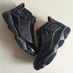 Hot Sale-Cheap Top Quality 6 seis anéis Botas Sapatos New Chegada dos homens Jumpman VI Preto Vermelho Designer confortável Tamanho 40--45