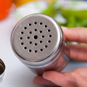 Из нержавеющей стали приправы бутылки приправа Шейкеры кухня Контейнер для барбекю перец порошок инструмент для специй порошок Опрыскивание Пот VT0080