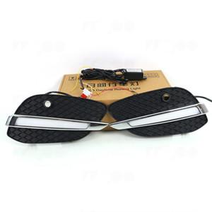 araba stying Sarı Işık Araç Aksesuarları Su geçirmez Sis Lamba ile Mercedes-Benz GLC Sınıf X20515-16 İçin Sis Lambaları DRL LED