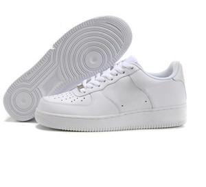 Nike Air Force One 1 Mit Box CORK Für MenWomen Qualität eines 1 Korb Schuhe Low Cut All Weiß-Schwarz-Farbe Korb Turnschuhe Größe US 5.5-12