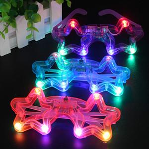 DHL LED Décor de verre en plastique LED Glow Light Up Lunettes Jouet en verre pour Kids Party Celebration décorations Neon SHow Noël Nouvel An