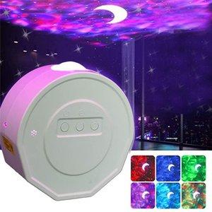 Starry Sky projecteur Star Night lumière Projection 6 couleurs Ocean Ondulation lumières 360 degrés de rotation lampe de nuit d'éclairage pour les enfants