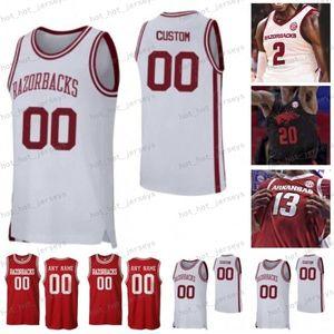 NCAA Arkansas 2020 Koleji Basketbol Jersey Özel Daniel Gafford Joe Johnson Isaiah Joe Mason Jones Scotty Thurman Thompson Dikişli Gömlek
