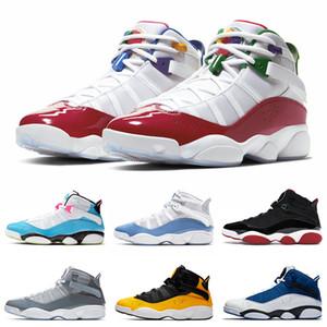 6 anneaux hommes chaussures de basket-ball UNC BLEUTE FURY Concord Multicolor Space Jam formateurs des hommes des femmes de sport Chaussures de sport 36-47
