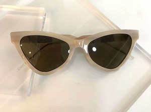 Olho de gato Sunglasses 0597 Bege / Lens Brown Desenho de Moda Óculos mulheres Sungalsses Shades novo com caixa