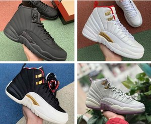 Game Royal 12 University Gold 12s Men Basketball Shoes CNY Midnight Black Reverse Taxi Mens Trainer Athletic Sports Sneakers Size 40-47