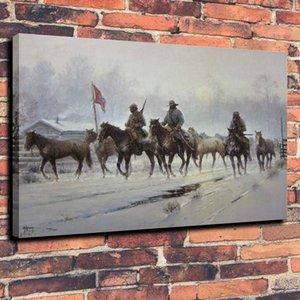 Tuval Wall Art Canvas Pictures 191.103 tarihinde Konfederasyon Savaşı Ev Dekorasyonu Handpainted HD Baskı Yağ Resim İçin Atlar