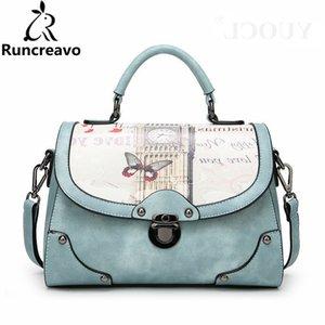 2018 Crossbody Bags For Women Leather Handbags Handbags Women Bags Butterfly Printing Shoulder Bag Sac A Main