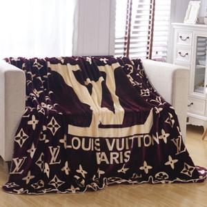 Las nuevas llegadas Throw Manta de lana 150x200cm moda del estiloLV para viajes de Ministerio del Interior de la siesta del sueño Manta franela de tela