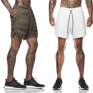 Bordado hombre de la moda de alta calle del verano pone en cortocircuito pantalones cortos Raw Male Outdoor Running pantalones cortos Deportes bordado # 865