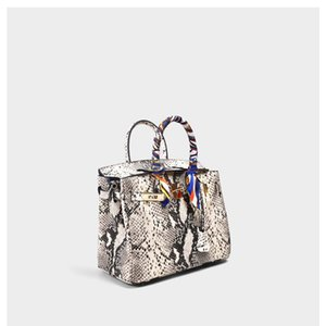 Charm2019 grano Donna pacchetto Genuine Leather Portable Signora Atmosfera Snake Bag pelle bovina