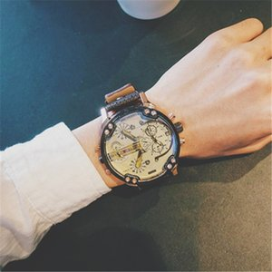 Relojes Mujer Leather Strap Mens Watches Reloj Hombre Fashion Quartz Watch Best Sale Dropshipping Big Dial Military Army Shock Wristwataches