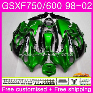 Kit For SUZUKI KATANA GSX750F GSXF750 1998 1999 2000 Stock green 2001 2002 Body 3HM.86 GSXF 750 600 GSX600F GSXF600 98 99 00 01 02 Fairing
