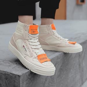 SAGACE ayakkabı erkekler Moda Günlük Ayakkabılar Yüksek üst Düz Spor Sneakers Karışık Renkler Tuval Erkek Sapato 2020 Çapraz bağlı