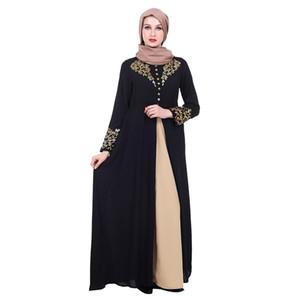 Robe d'impression musulmane mode femme mybatua abaya avec hijab jilbab vêtements islamiques maxi robe burqa dropship