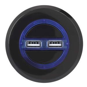 Ronde boutons latéraux avec Smart Phone Ports USB Charging Socket rétro-éclairage bleu électrique Canapé inclinable Ascenseur Chaise Meubles Accessoires