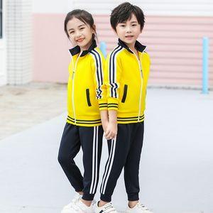 Sports Set Men And Women Sports Clothing Group Clothes Coat Primary School STUDENT'S School Uniform Kindergarten Suit Customizab