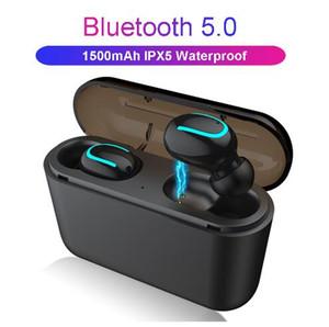 블루투스 5.0 이어폰 TWS 무선 블루투스 이어폰 핸즈프리 귀에서 스포츠 이어 버드 게임 헤드셋 전화 PK HBQ