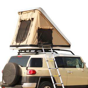 ABS Shell duro do carro telhado tenda ao ar livre Duplo Hard Case automática Abrir hidráulico SUV off-Road Carga Car Folding Viajar Tent Car Roof